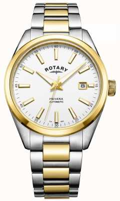 Rotary Mens deux tons havane automatique GB05078/02