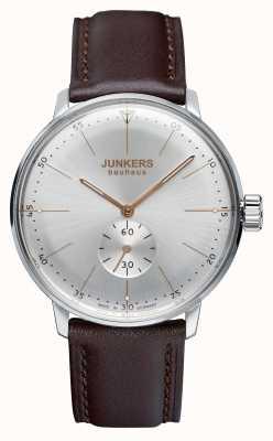 Junkers Mens bauhaus en cuir à remontage manuel cadran bracelet en argent 6032-5