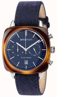 Briston Hommes bracelet en tissu bleu cru clubmaster cadran bleu 17140.SA.TV.15.LFNB