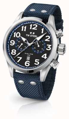TW Steel Montre de montres en tissu bleu VS37