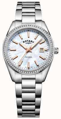 Rotary Montre pour mère de perle Womans havana LB05079/41