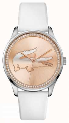 Lacoste Bracelet en silicone blanc Womans 2000969