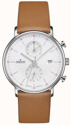 Junghans Forme c chronoscope bracelet en cuir de veau 041/4774.00