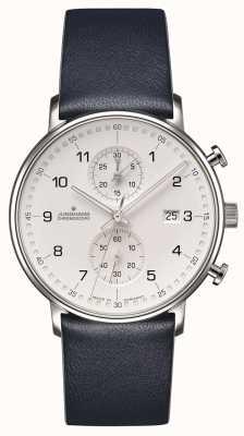 Junghans Forme c chronoscope bracelet en cuir de veau avec chiffres 041/4775.00