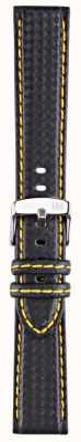 Morellato Courroie seulement - techno de vélo noir / jaune 20mm A01U3586977897CR20