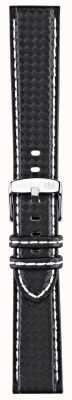 Morellato Courroie seulement - techno de vélo noir / blanc 18mm A01U3586977817CR18