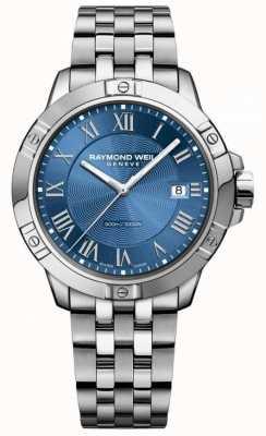 Raymond Weil Tango acier acier bleu cadran argent / bleu 8160-ST-00508