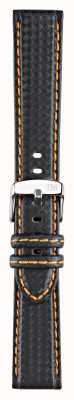 Morellato Courroie seulement - techno de vélo noir / orange 18mm A01U3586977886CR18