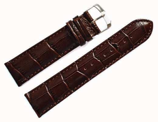 Morellato Courroie seulement - samba alligator veau marron 22mm A01X2704656032CR22