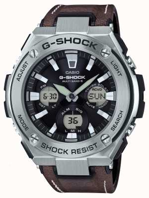 Casio G-shock aviateur dur cuir brun marron sangle GST-W130L-1AER