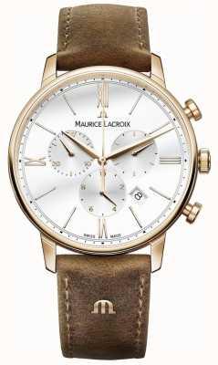 Maurice Lacroix brun chronographe hommes de bracelet en cuir de veau EL1098-PVP01-113-1
