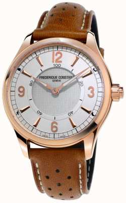 Frederique Constant Bracelet en cuir marron clair Bluetooth FC-282AS5B4