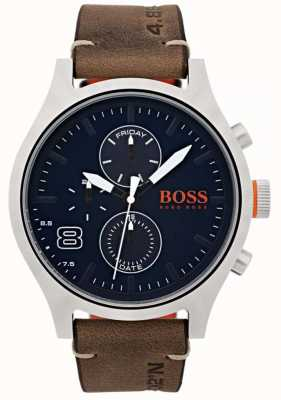Hugo Boss Orange Cuir marron homme amsterdam 1550021