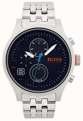 Hugo Boss Orange Hommes amsterdam noir acier inoxydable 1550023