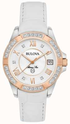 Bulova Womans étoile marine blanc diamant 98R233