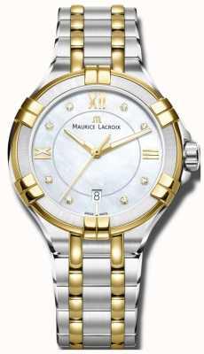 Maurice Lacroix Womans aikon quartz deux tons bracelet AI1004-PVY13-171-1