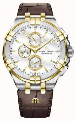Maurice Lacroix Cuir quartz homme aikon AI1018-PVY11-132-1