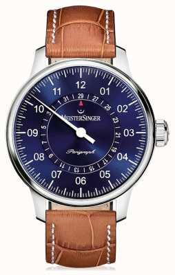 MeisterSinger Bracelet en cuir marron brun classique pour homme plus perigraph AM1008