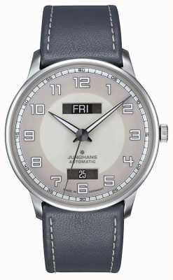 Junghans Meister conducteur automatique jour date bracelet bleu 027/4720.01