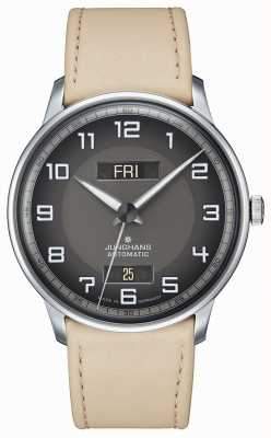 Junghans Meister conducteur automatique jour date tan bracelet 027/4721.01