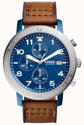Fossil Hommes le chronographe principal bleu CH3085