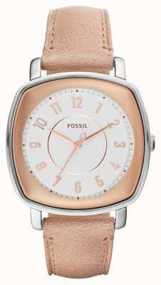 Fossil Cuir beige idéaliste Womans ES4196