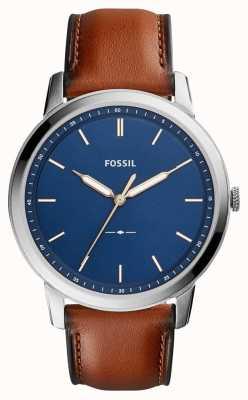 Fossil Cuir brun minimaliste pour homme FS5304