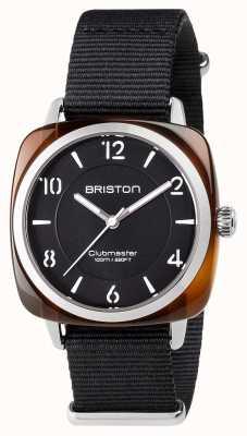 Briston Unisex clubmaster chic en acier noir avec bracelet en nato 17536.SA.T.1.NB