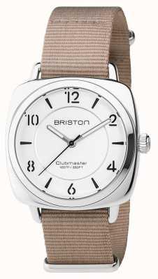 Briston Unisex clubmaster chic en acier beige avec bracelet en nato 17536.S.L.2.NT