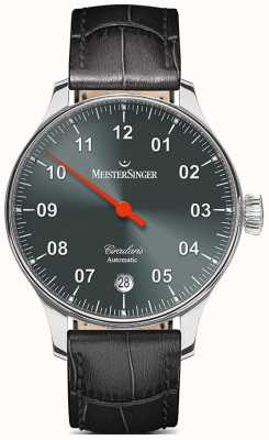 MeisterSinger Mens circularis sunburst automatique anthracite CC907