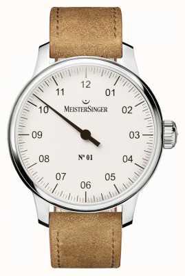 MeisterSinger Hommes no. 1 main classique sellita blanc AM3301