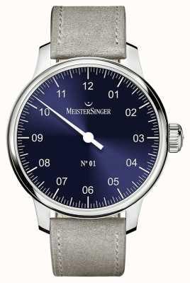 MeisterSinger Hommes classiques no. 1 main enroulement saleita sunburst blue AM3308