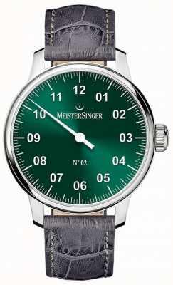 MeisterSinger Hommes classiques no. 2 brins de soleil à la main vert AM6609N