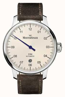 MeisterSinger Hommes classiques no. 3 ivoire automatique 40 mm DM903