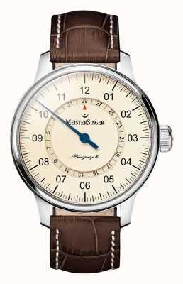 MeisterSinger Mens classic pluse perigraph automatique ivoire AM1003