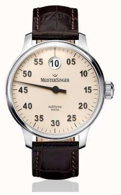 MeisterSinger Mens classic plus salthora meta automatic ivoire SAM903