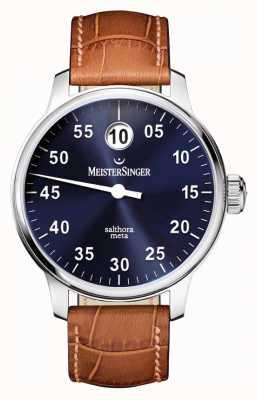 MeisterSinger Mens classic plus salthora meta auto sunburst blue SAM908