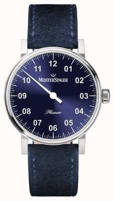 MeisterSinger forme et le style des hommes phanero sunburst bleu remontage manuel PH308