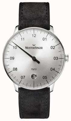 MeisterSinger Forme mensuelle et style néo automatique sunburst argent NE901N