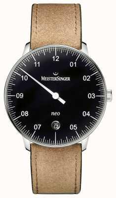 MeisterSinger Forme mensuelle et style noir néo-automatique NE902N
