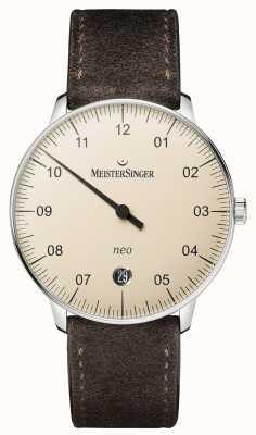 MeisterSinger Forme mensuelle et style néo-automatique ivoire NE903N