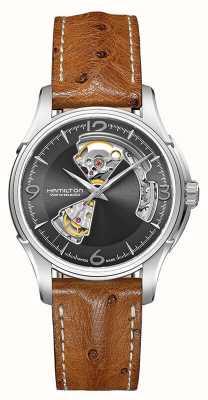 Hamilton Hommes Jazzmaster Open Heart Automatic Leather H32565585