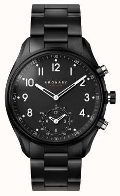 Kronaby 43mm apex bluetooth noir pvd bracelet métallique smartwatch A1000-0731