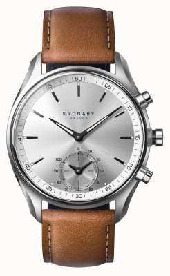 Kronaby Cuir brun tanné bluetooth de 43mm a1000-0713 S0713/1