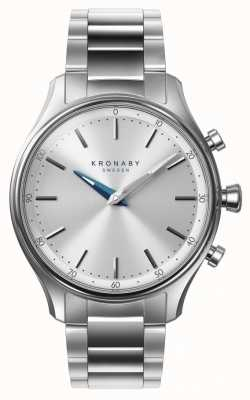 Kronaby Bracelet en acier inoxydable de 38mm sekel bluetooth smartwatch A1000-0556