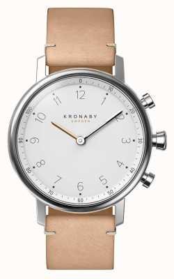 Kronaby Bracelet cuir beige nordique bluetooth 38mm a1000-0712 S0712/1