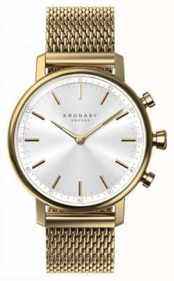Kronaby Bracelet en maille d'or bluetooth 38mm carat a1000-0716 S0716/1