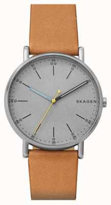 Skagen Signature masculin signet gris bracelet bronzage SKW6373