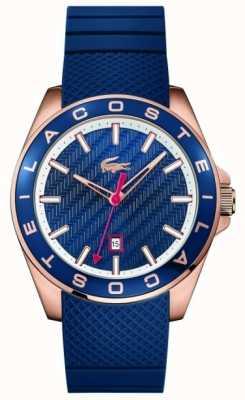 Lacoste Bracelet en caoutchouc bleu pour homme westport 2010906