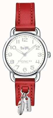 Coach Womans delancey montre bracelet en cuir rouge 14502758